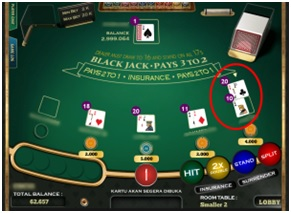 Cara Main Blackjack Split One